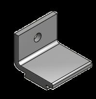 Aluminium wanddragers t.b.v.  Husky schuifdeurrail