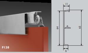 Klikkap aluminium geanodiseerd 4000m t.b.v. Husky Schuifdeurgarnituur plafond montage