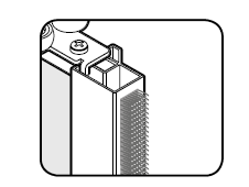Stootstrip grijs t.b.v. Storemax