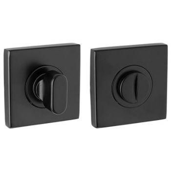 Toilet rozet vierkant, zwart