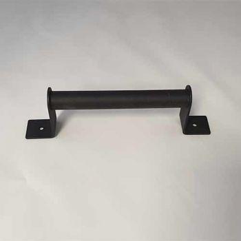 Schuifdeurgreep industrieel zwart, 195 mm