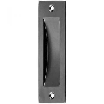 Schuifdeurkom rechthoekig model 120x40 mm, zwart